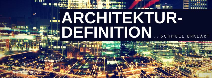 Architekturdefinition